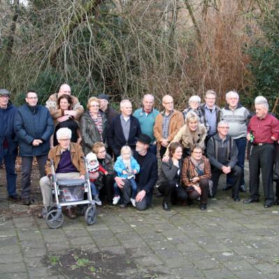 Groepsfoto voormalige polderbewoners