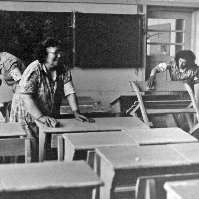 Ook alle klaslokalen moesten schoongemaakt worden