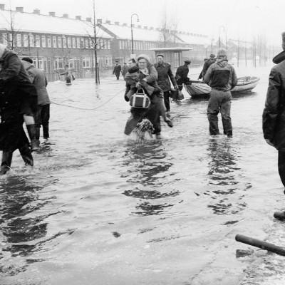 Evacuatie watersnood 1960