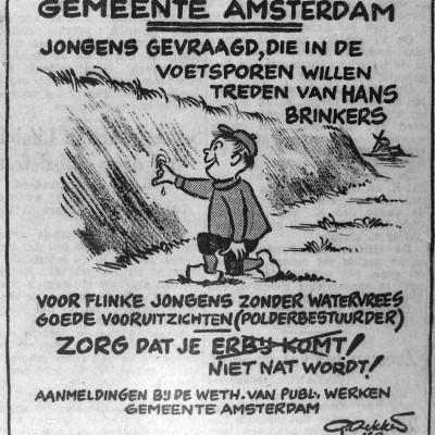 Ludieke poster van de gemeente